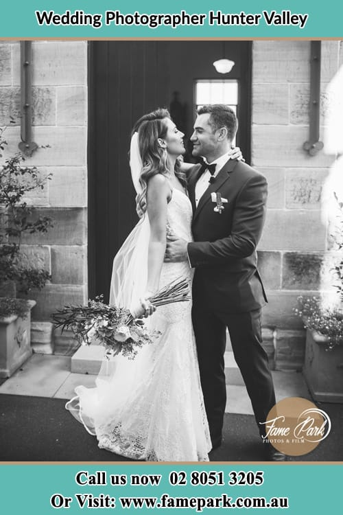 Picture of Bride and Groom embracing each other Hunter Valley
